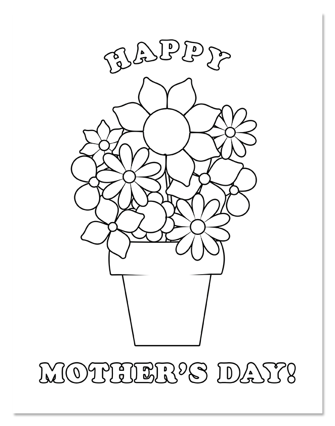 662x842 Shine Daily Happy Mother's Day Coloring Page Shine Fm