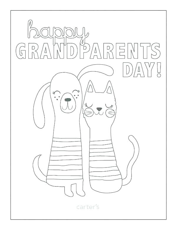600x776 Happy Grandparents Day Coloring Pages Grandparents Day Coloring