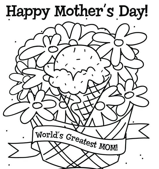 550x586 Happy Mothers Day Coloring Pages Mothers Day Coloring Happy