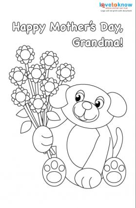 279x425 Mother's Day Cards For Kids To Color