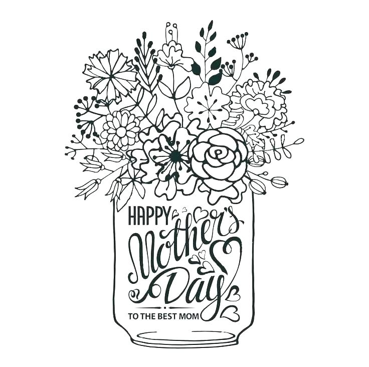 736x732 Mothers Day Coloring Pages For Grandma Free Mothers Day Coloring