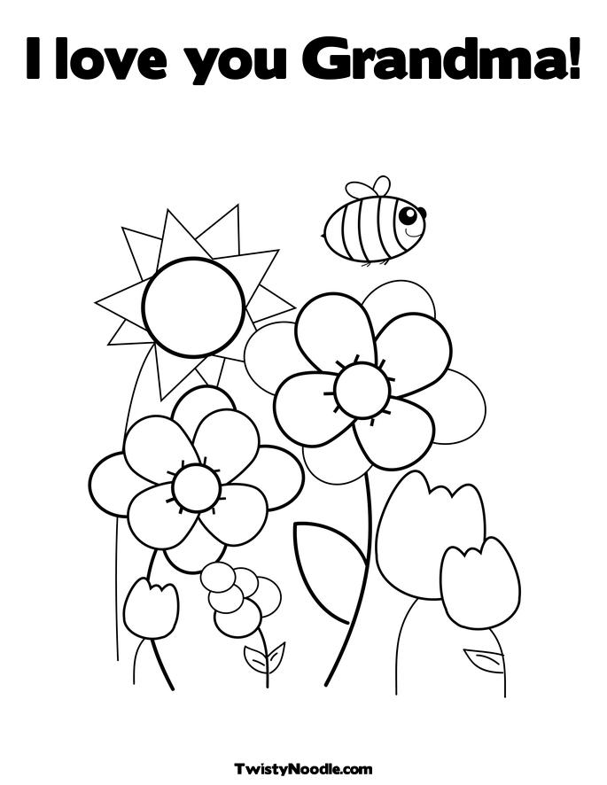 685x886 Grandma Coloring Pages