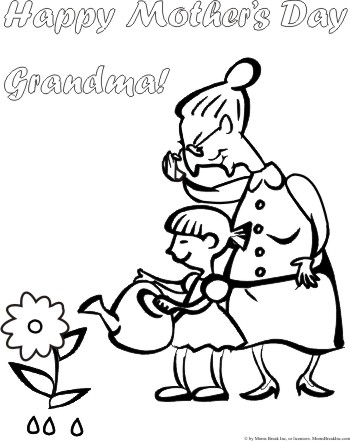 350x442 For Grandmas Colouring Pages, Happy Mothers Day Grandma Coloring