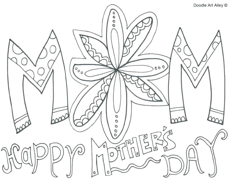 805x622 Mothers Day Coloring Pages Icontent