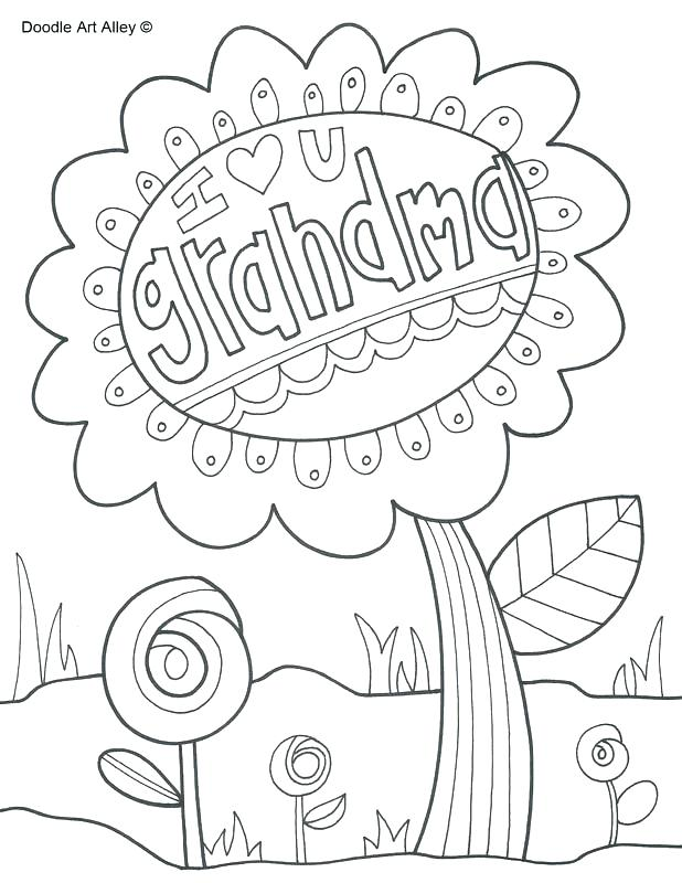 Happy Mothers Day Grandma Coloring Pages At Getdrawings