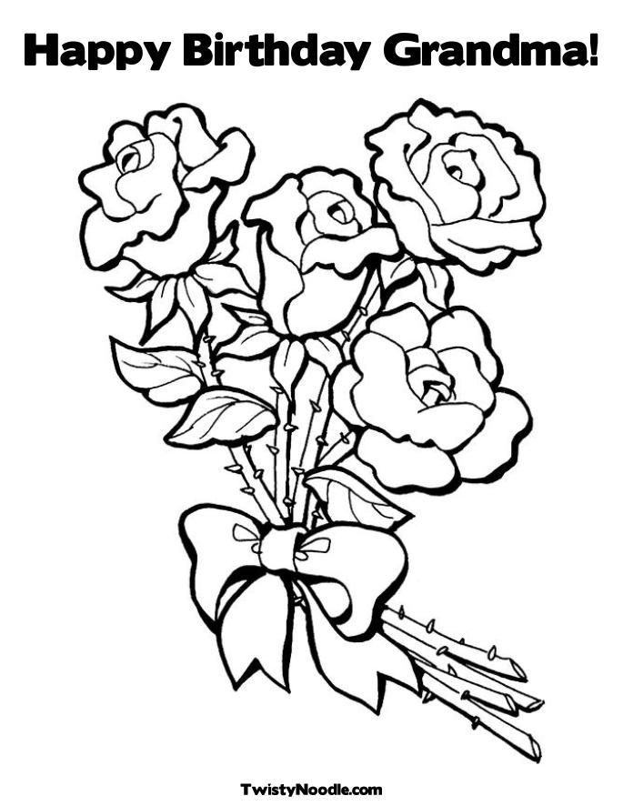 685x886 Happy Birthday Coloring Pages