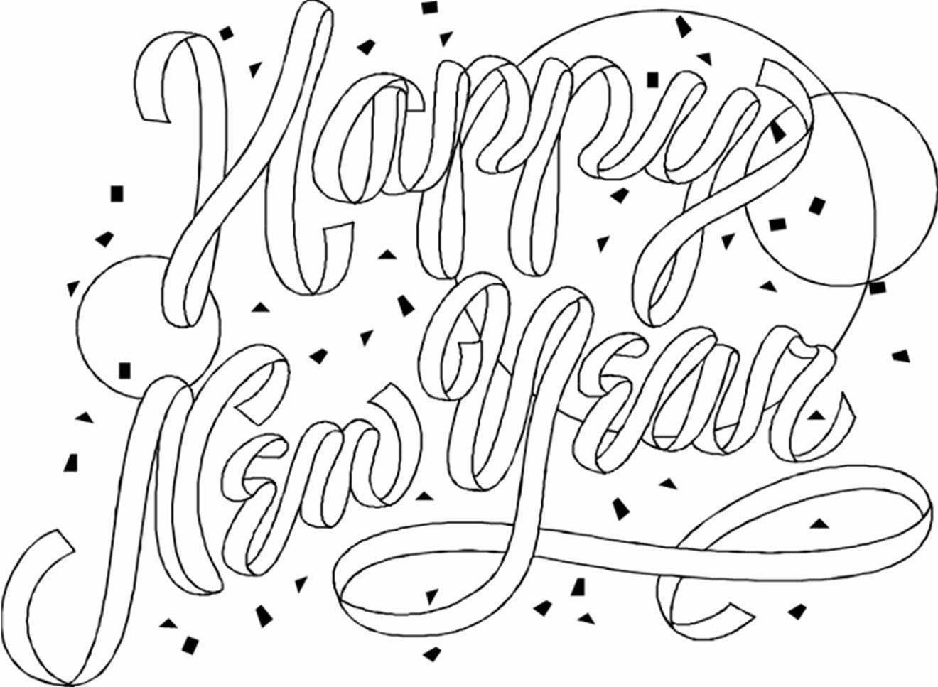 1320x967 Happy New Year Coloring Pages Fresh Happy New Year Printable