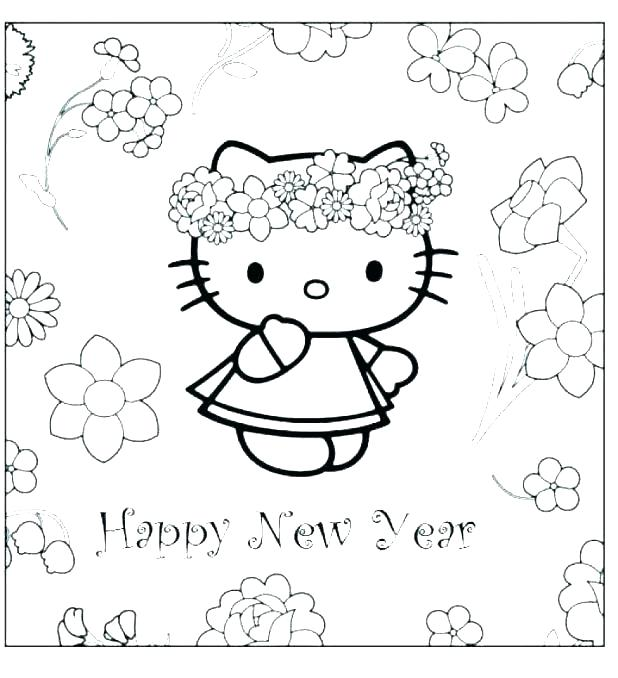 618x678 Happy New Year Coloring Pages To Print Free New Years Coloring