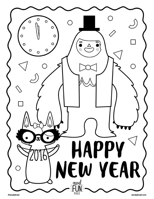 612x792 New Year's Eve Free Printable Coloring Page Honest To Nod