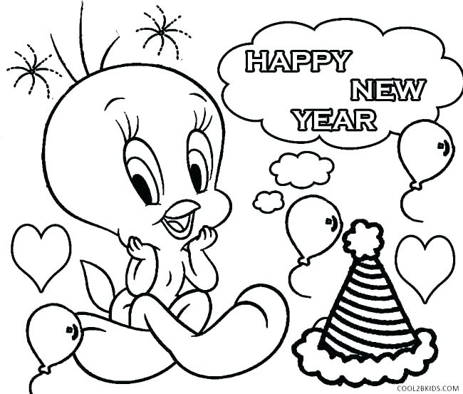 650x553 New Years Coloring Page New Years Eve Free Printable Coloring Page