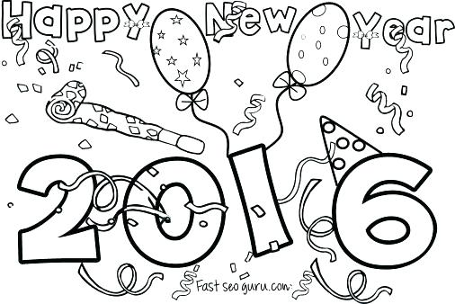 506x338 New Years Eve Coloring Pages Printable New Years Coloring Pages
