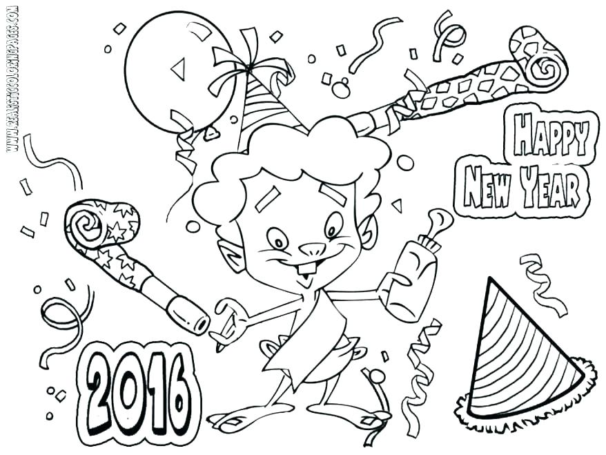 878x659 New Years Printable Coloring Pages Year Old Coloring Pages New