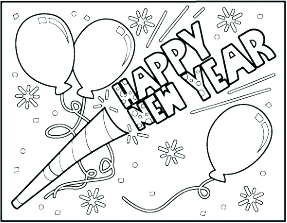 936x729 New Years Printable Coloring Pages New Years Coloring Pages Happy