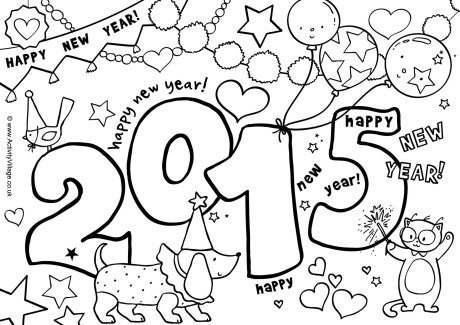 460x325 Coloring Pages For New Years