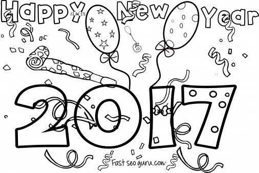 506x338 Happy New Year Coloring Pages Free Coloring Pages