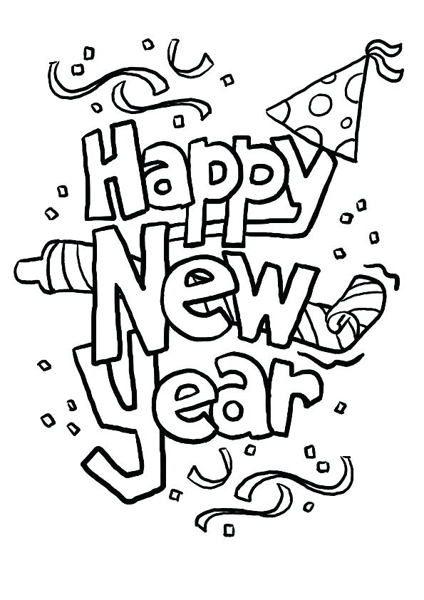 595x842 Happy New Year Coloring Pages Happy New Year Coloring Pages
