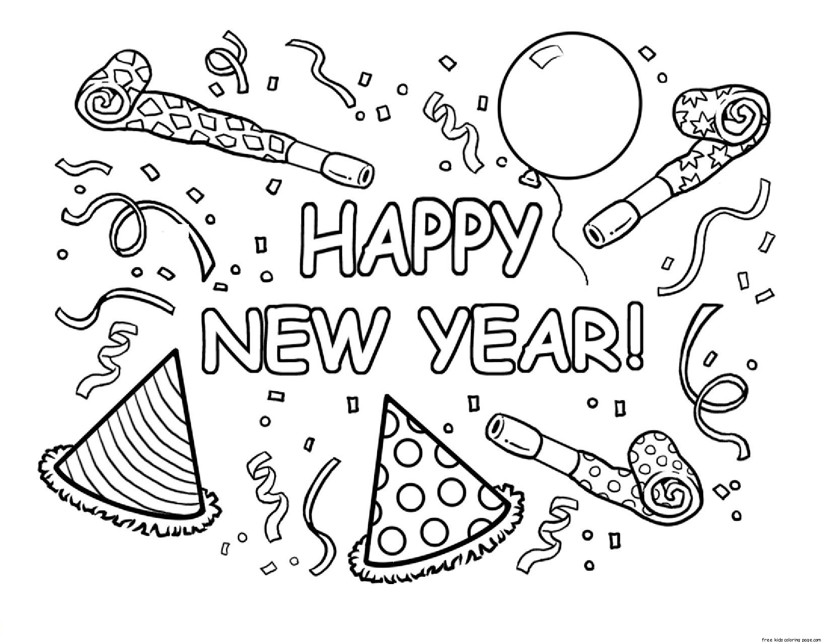 1650x1275 Happy New Year Coloring Pages Printable