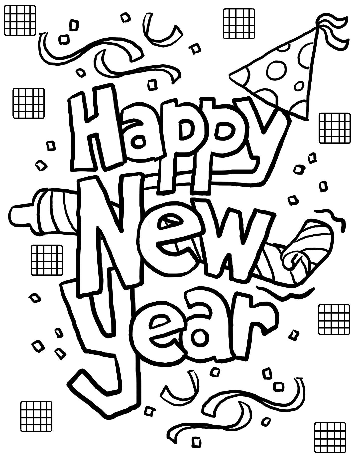 1439x1851 Happy New Year Coloring Pages Sheets