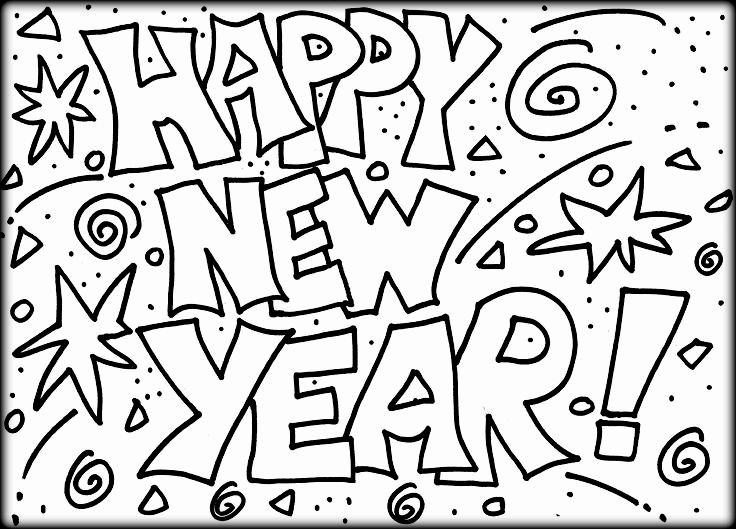 736x529 Happy New Year Coloring Pages Happy New Year To Everyone Coloring