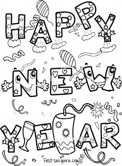 249x338 Happy New Year Coloring Sheets For Kids