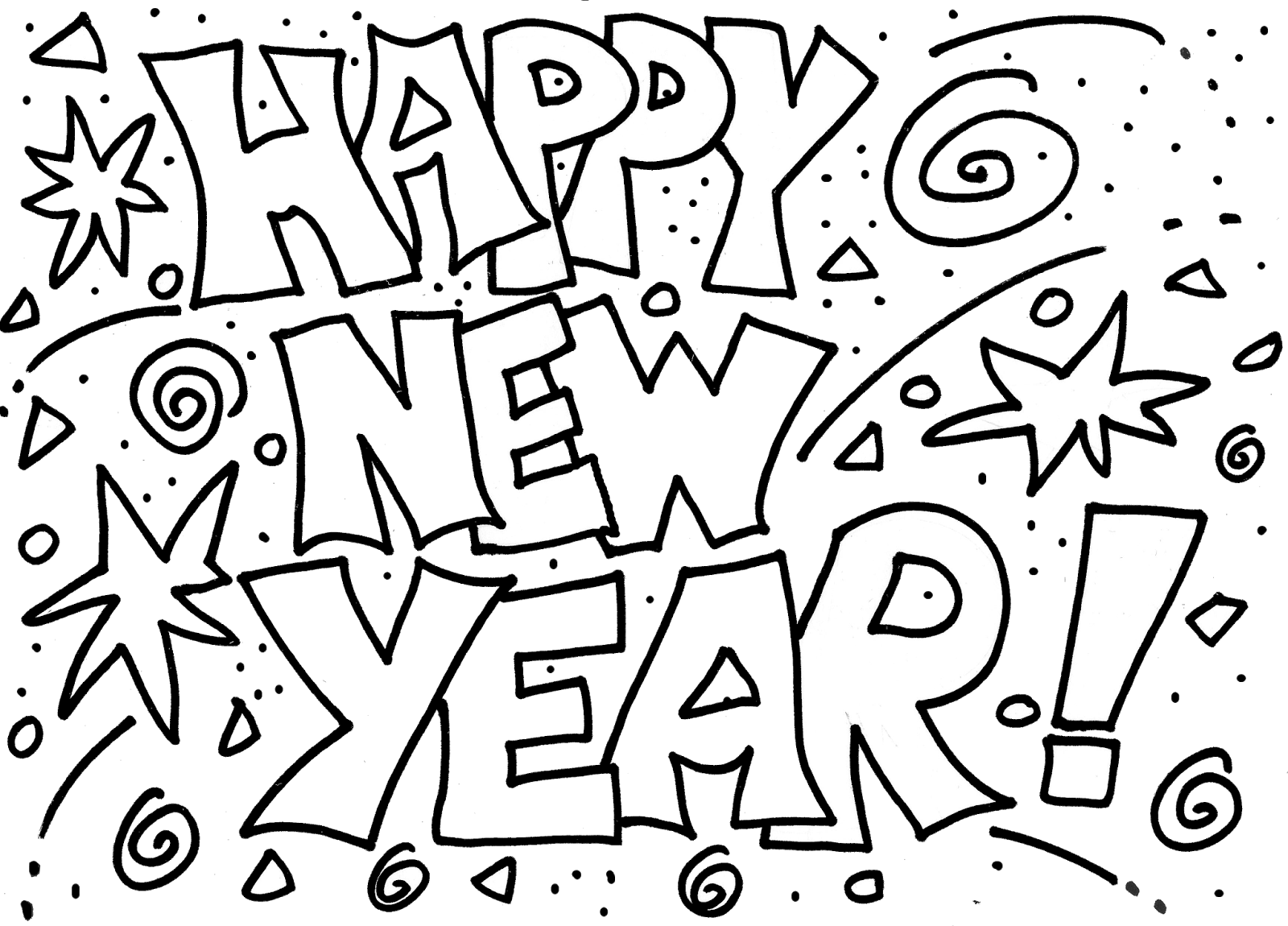 1600x1150 Superior New Year Coloring Pages Free Printabl