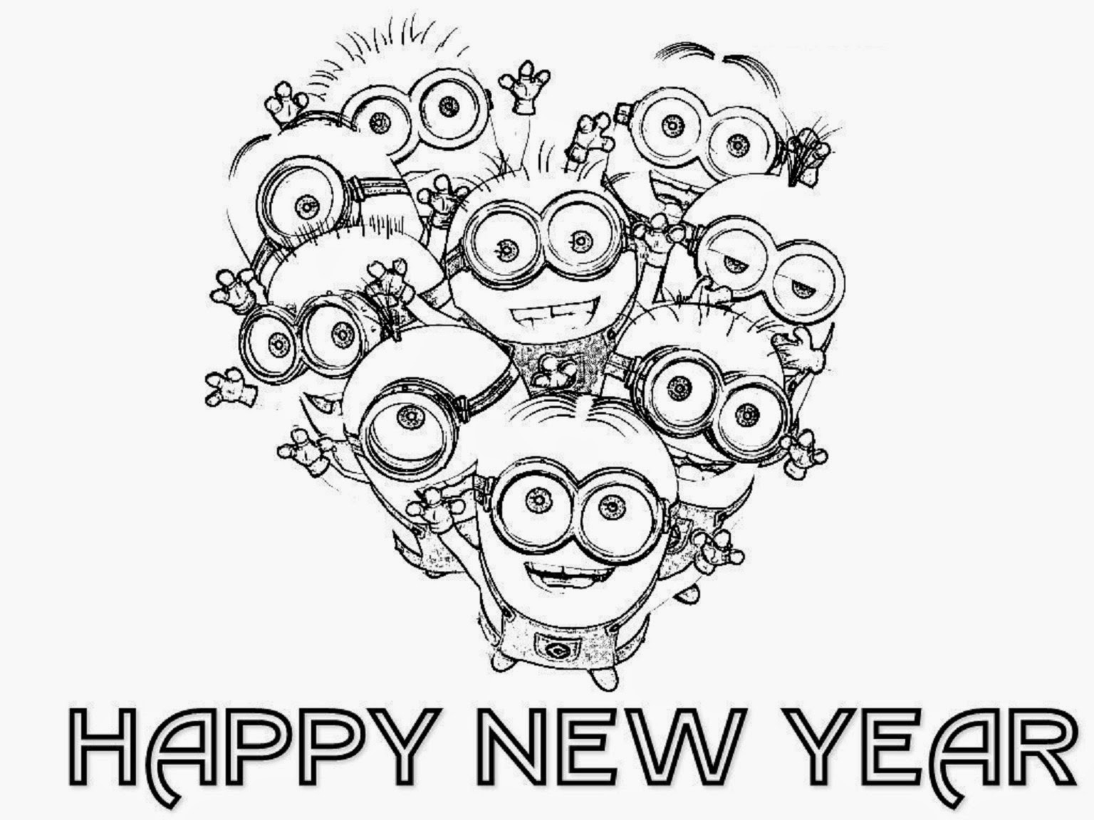1536x1152 Wonderful Happy New Year Coloring Sheets Print