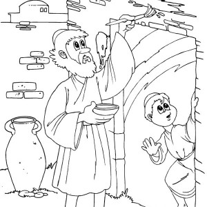 300x300 Having A Happy Passover Dinner Coloring Page Having A Happy
