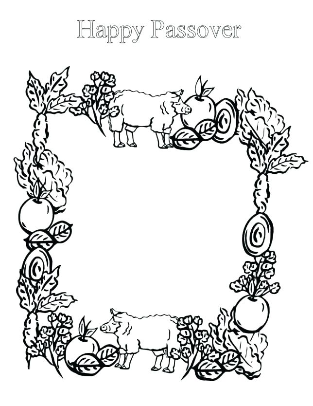 644x834 Passover Coloring Pages Pesach Coloring Pages