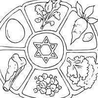 200x200 Passover Coloring Pages Unique A Happy Passover Bingo Free