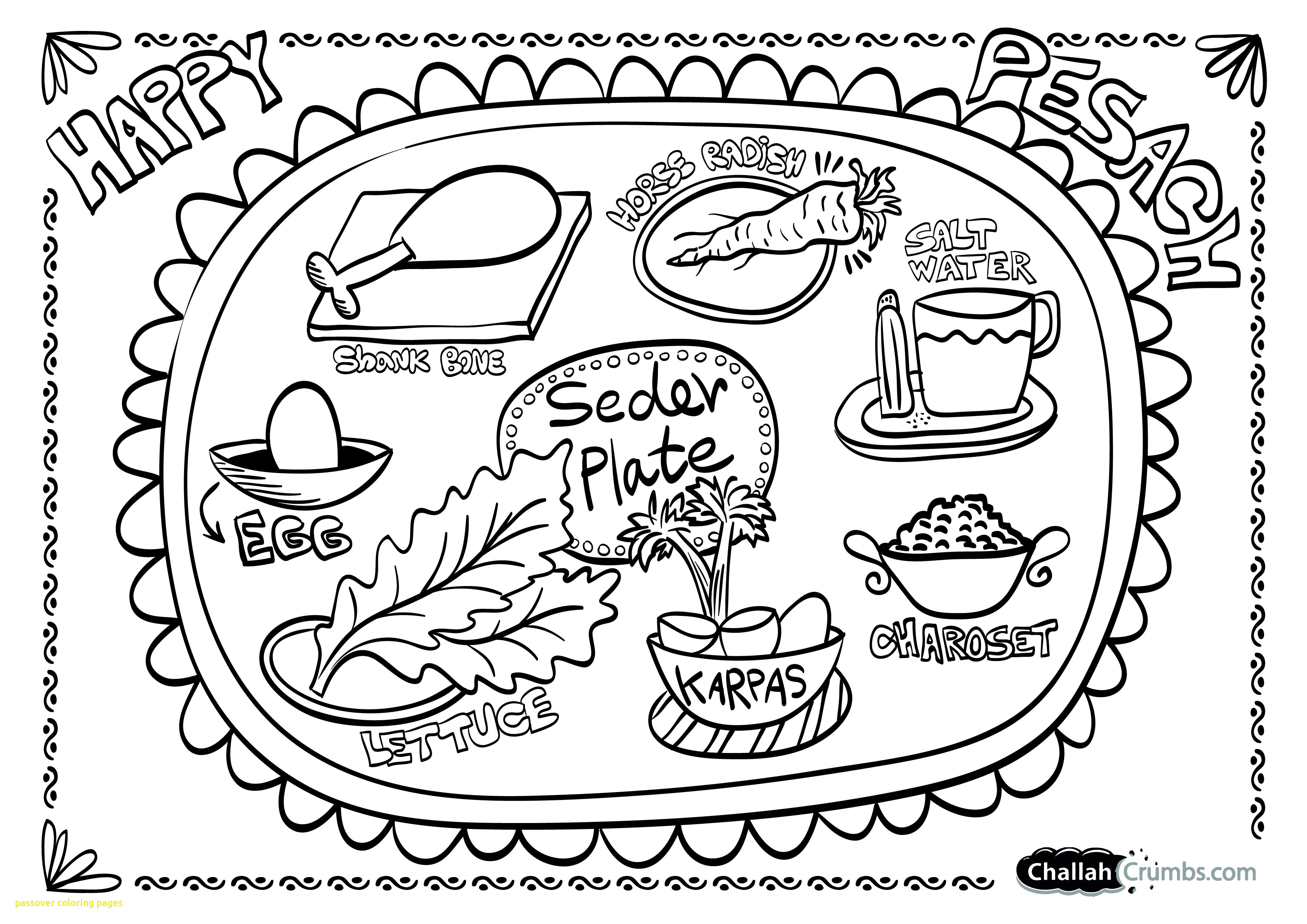 3508x2480 Passover Coloring Pages With Printable Intended For Plan
