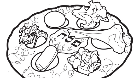 580x326 Pesach Coloring Pages