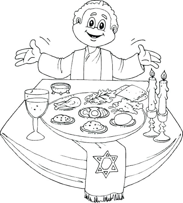 600x665 Pesach Coloring Pages Happy Greeting Cards Mandalas Print Easy