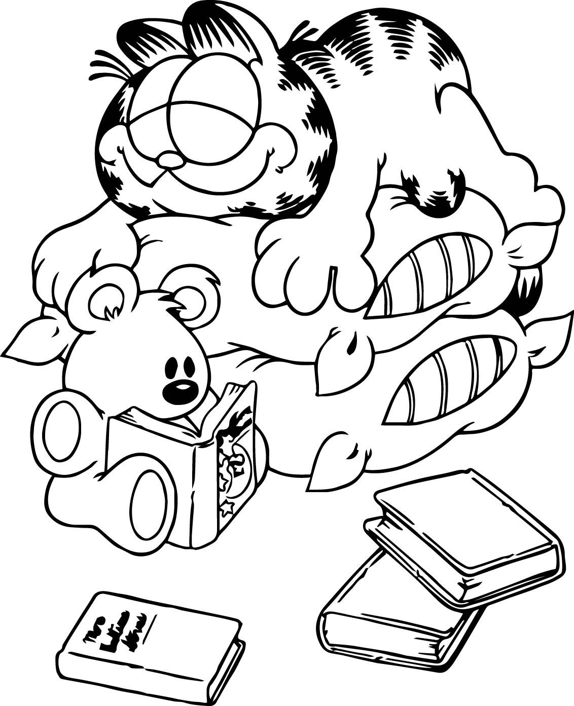 1132x1393 Awesome Garfield Coloring Pages Of Pict For Passover Popular