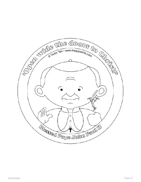 Happy Saints Coloring Pages