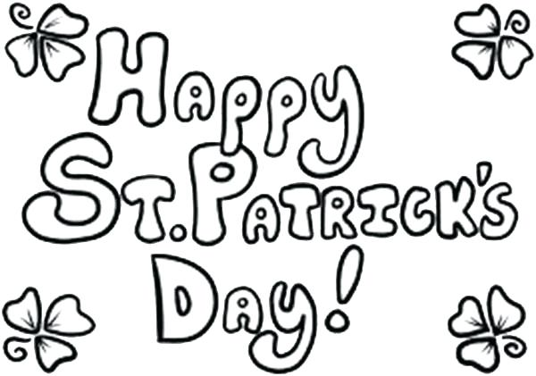 Happy St Patricks Day Coloring Pages At Getdrawings Com