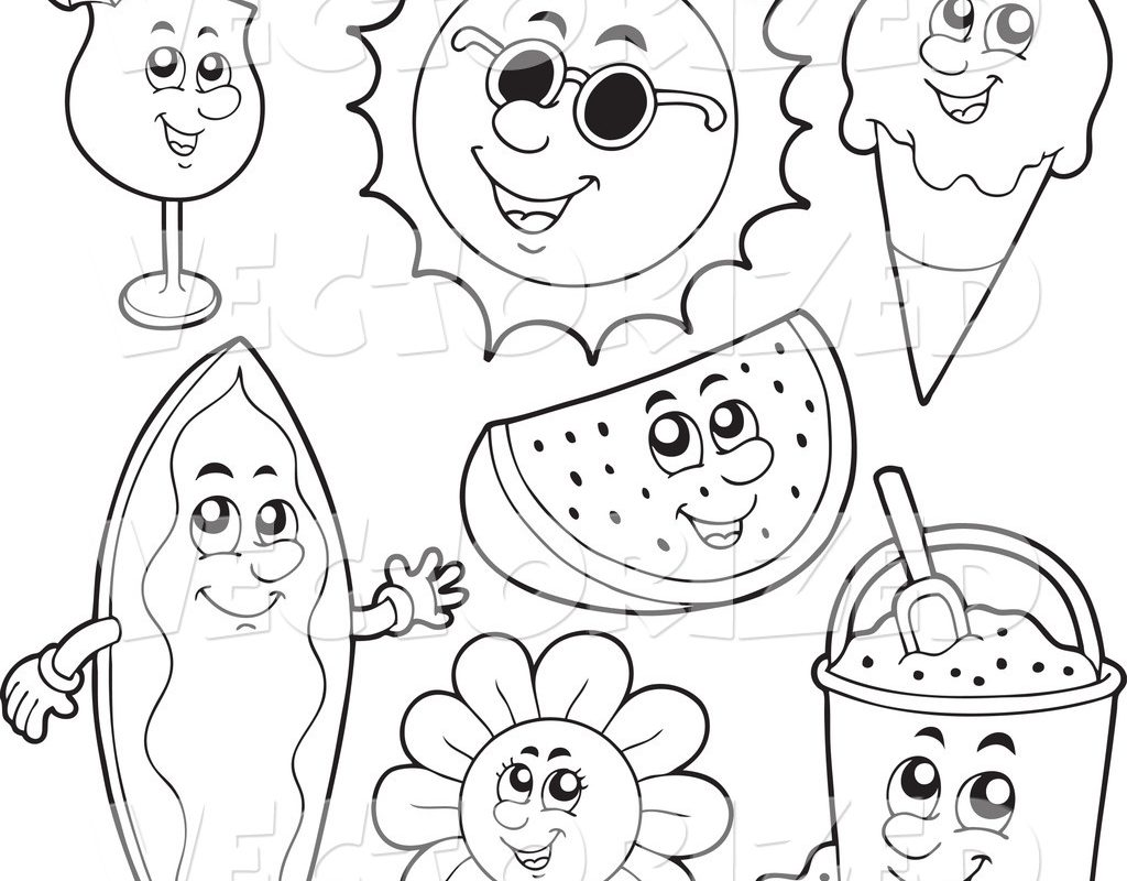 1024x800 Beautiful Summer Coloring Pages Printable For Your Toddler Adult