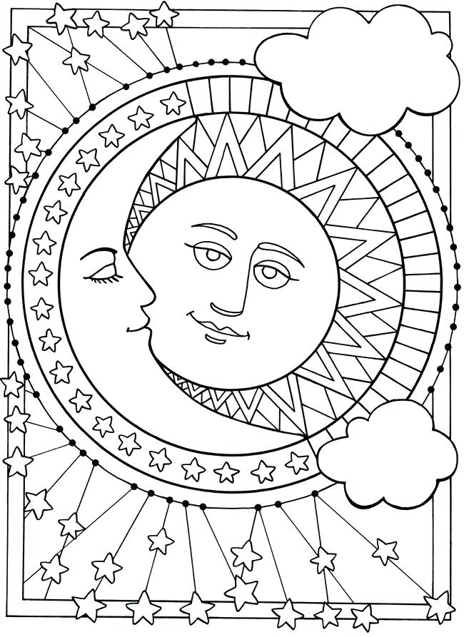 650x893 Sun Coloring Pages Happy Page Moon Earth Ea Murs