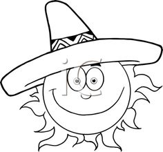 236x220 Sun Happyface Coloring Pages Happy Face Sun Coloring Page