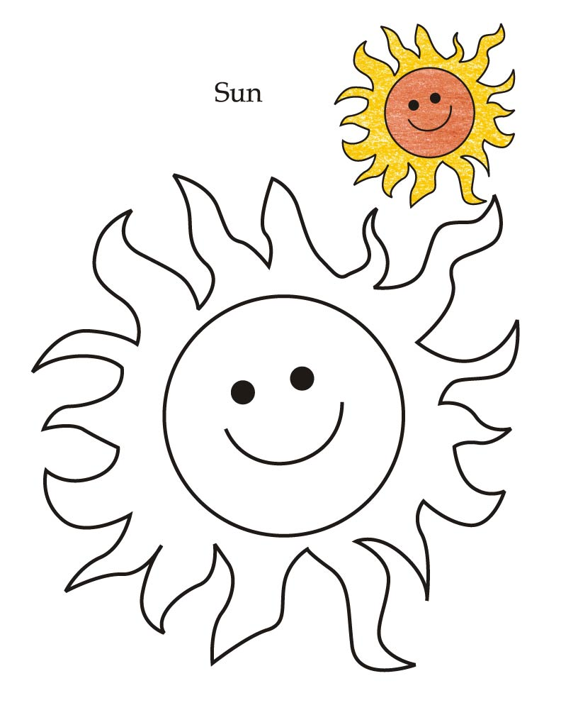 792x1008 Tracing Sheet Of Sun Coloring Pages For Kids