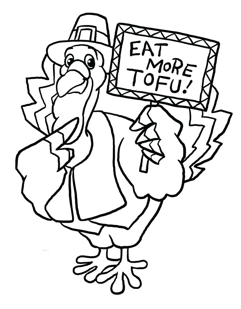 781x1000 Happy Thanksgiving Coloring Pages Free Catchy Funny Turkey