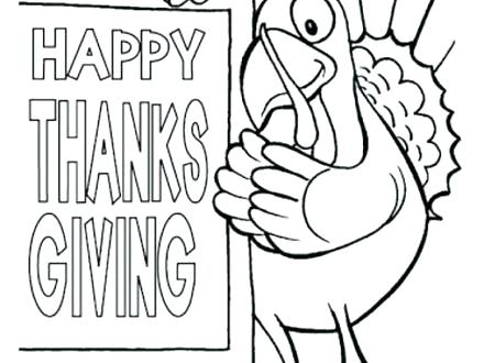 440x330 Happy Thanksgiving Coloring Pictures Happy Thanksgiving Coloring