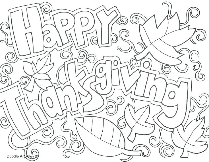 735x568 Printable Thanksgiving Coloring Pages Free Thanksgiving Coloring