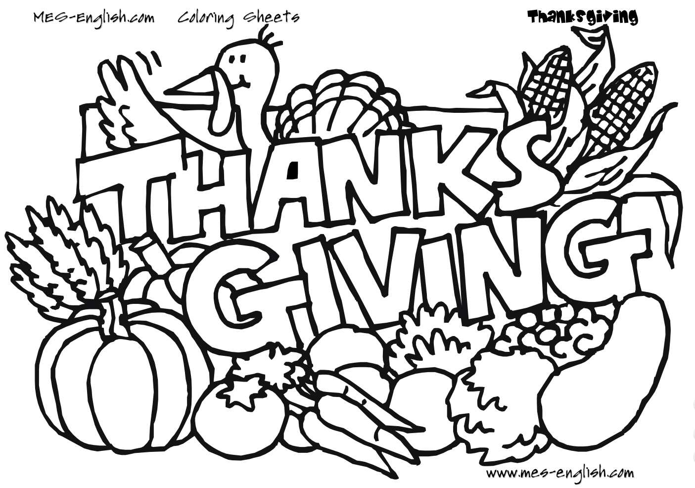 1405x986 Stunning Thanksgiving Coloring Sheet Preschool For Cure Hello