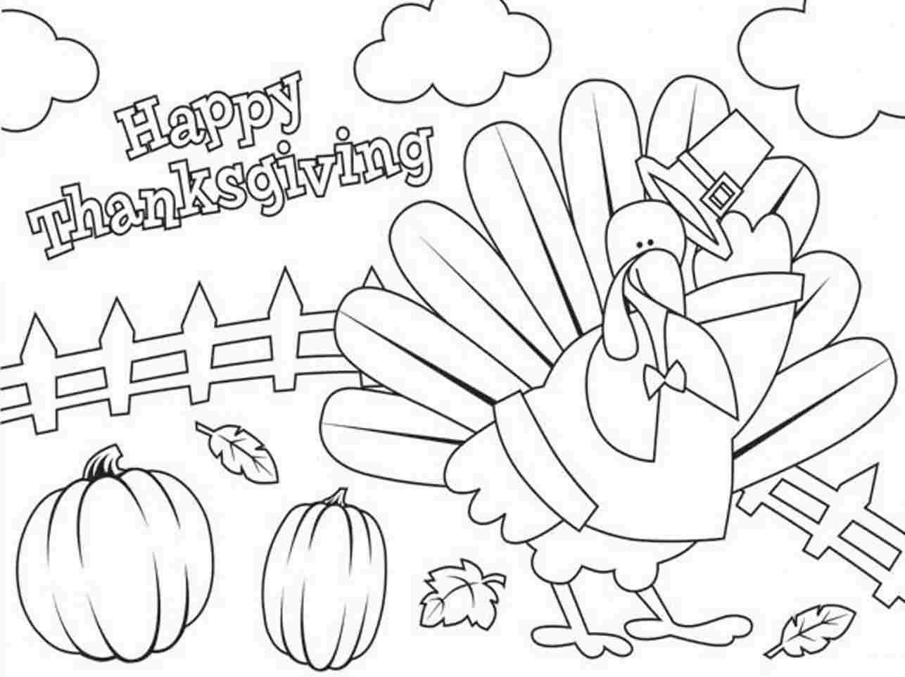 Happy Thanksgiving Printable Coloring Pages At Getdrawings Com