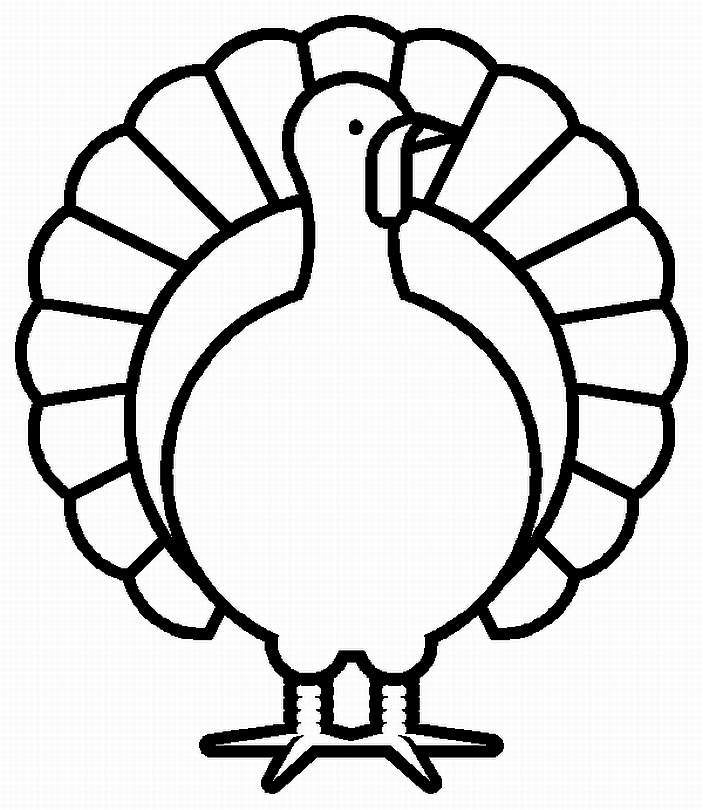 703x810 Happy Thanksgiving Turkey Coloring Pages