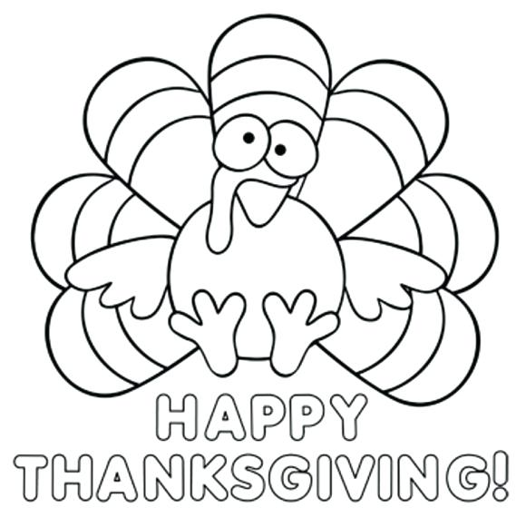 580x581 Thanksgiving Turkey Coloring Pages Printables Coloring Book Turkey