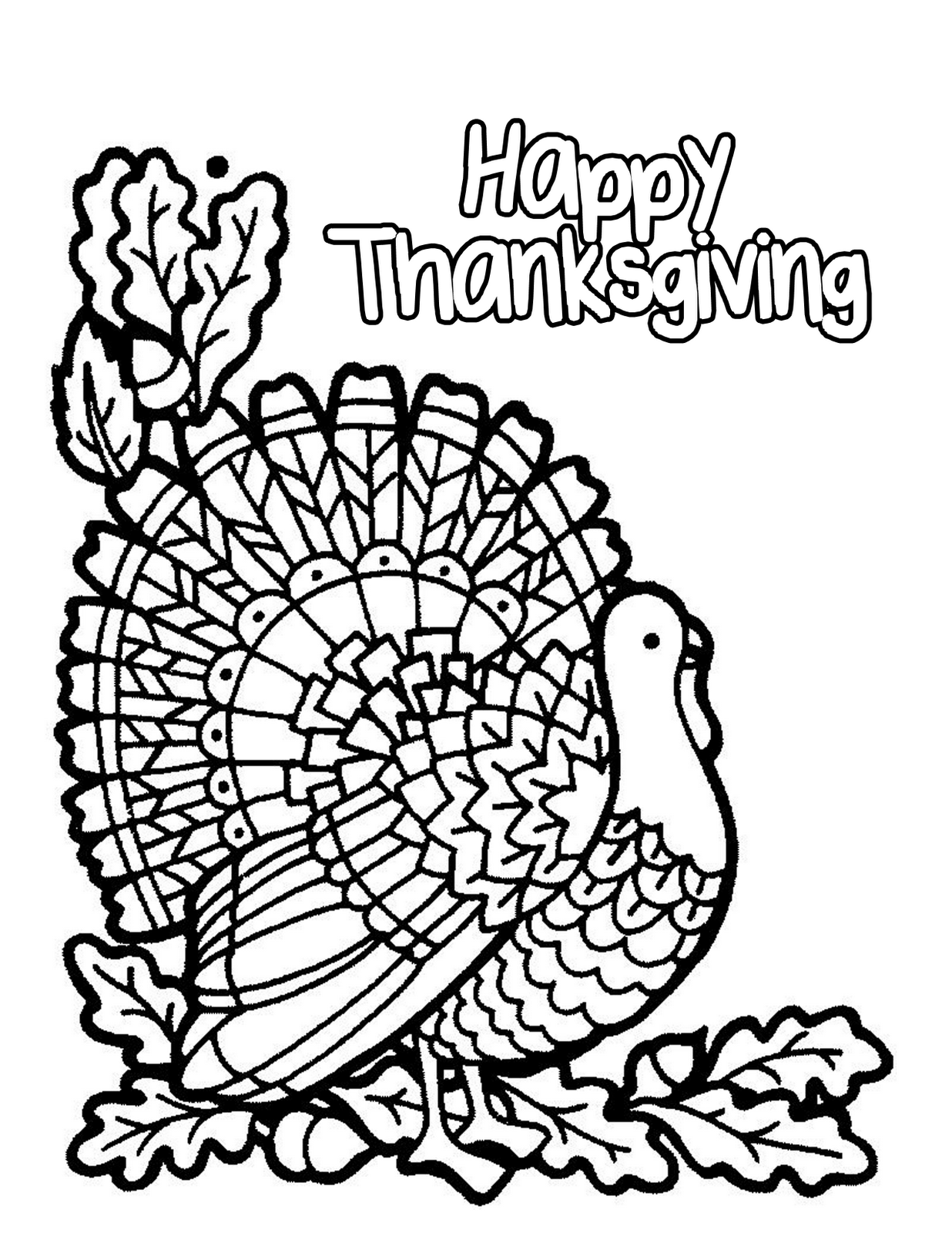 1236x1600 Turkey Happy Thanksgiving Coloring Pages Children And Free
