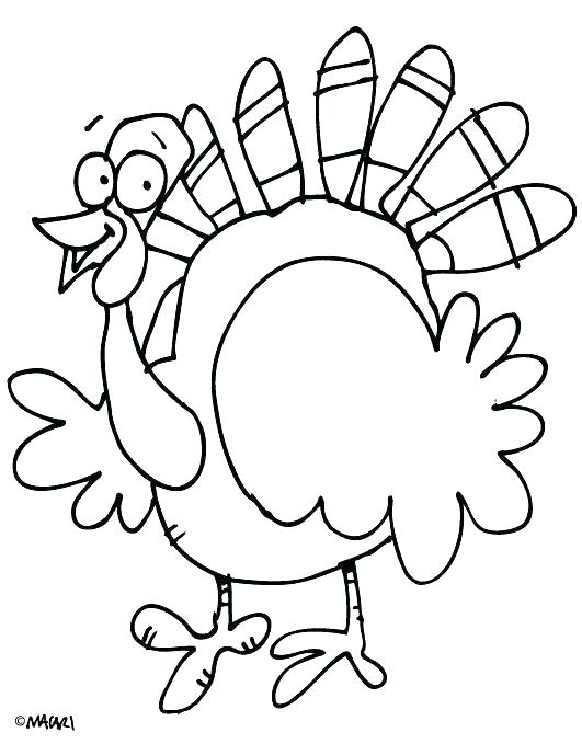 531x679 Printable Turkey Coloring Page