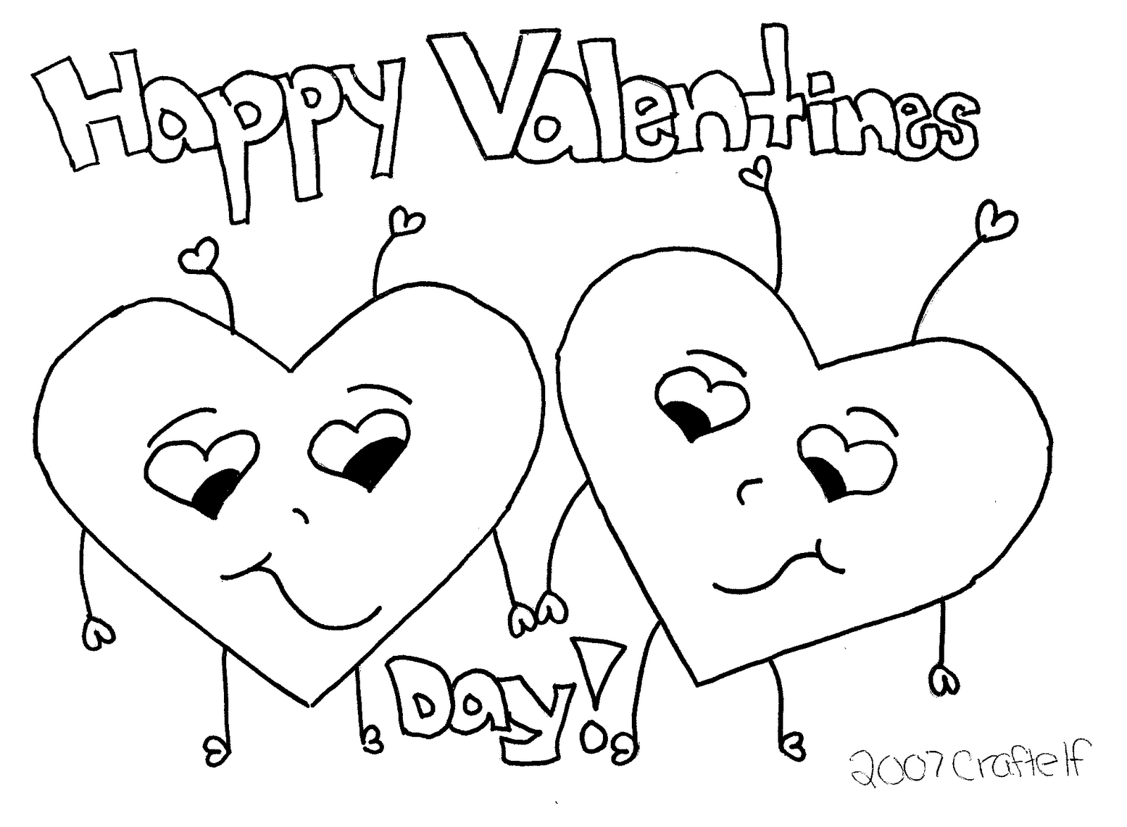 Happy Valentines Coloring Pages at GetDrawings.com | Free ...