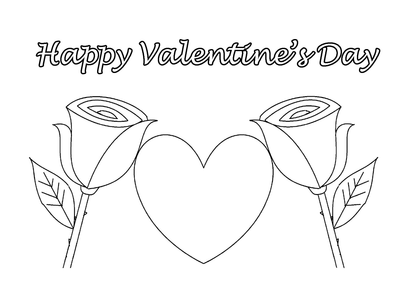 1600x1187 Happy Valentine's Day Coloring Pages